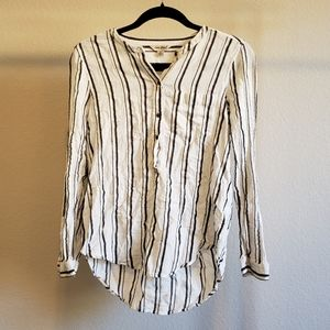Lucky Brand Striped Button Down Blouse